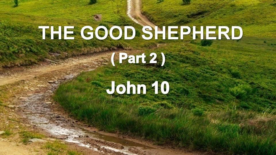 Gospel of John 10 (cont.)